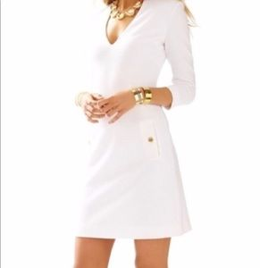 Lilly Pulitzer Dress - XS - Gold button pockets